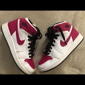 Women's Air Jordan 1- pink and white